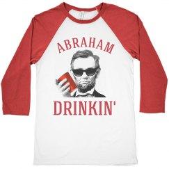 abraham lincoln drinkin' usa raglan shirt