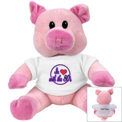 Love The 80's Pink Pig