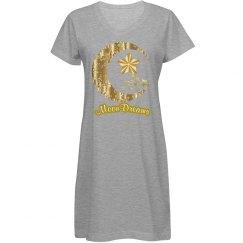 Golden Floral Crescent Moon & Stars MoonDreams