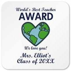 Best Teacher Coaster