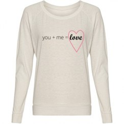 You + Me = Love Text Shirt