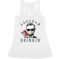 abraham lincoln drinkin' political usa tank top