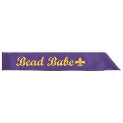 Bead Babe Mardi Gras Sash