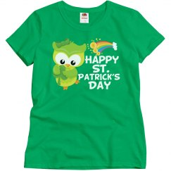 Happy St. Patrick's Day Owl