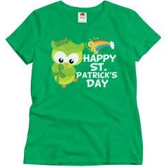 Happy St. Patrick's Day Owl