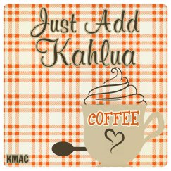 add kahlua drink coaster
