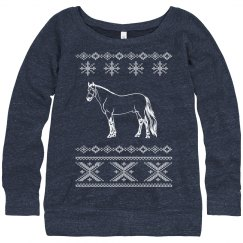 Winter Horse Sweater