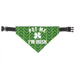 Pet Me I'm Irish Cat/Dog Bandana