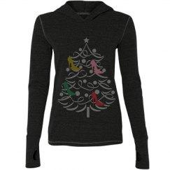 Christmas Shoe tree sweatshirt
