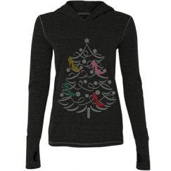 Christmas Shoe tree sweatshirt