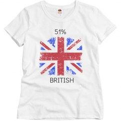 51% British