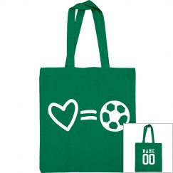 Love Soccer Mom Custom Tote Bag