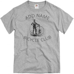 Custom bicycle club shirt