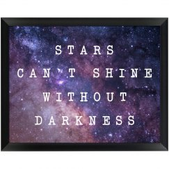 Motivational Quote Star Wall Plaque