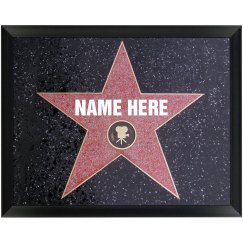 Custom Hollywood Movie Star Plaque
