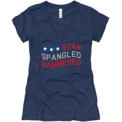 V-Neck Spangled Hammered