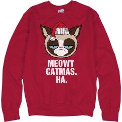 Meowy Catmas Cat Pun