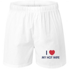 I Love My Hot Wife Boxers