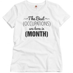 Custom Occupation Born In Month