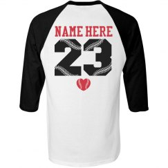 Cute Baseball Girlfriend Shirt With Custom Name Number