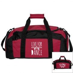 Elena's ballet bag