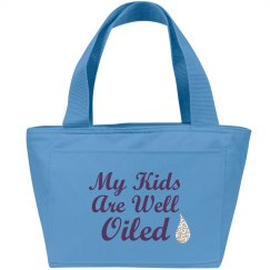 my kids are well oiled –tote bag