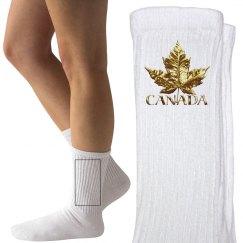 Canada Socks Gold Medal