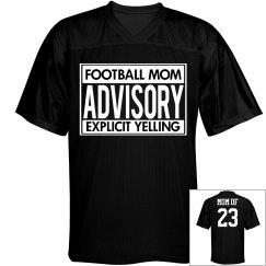 Explicit Football Mom Funny Custom Jersey