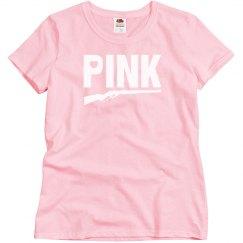 Pink Gun T-Shirt