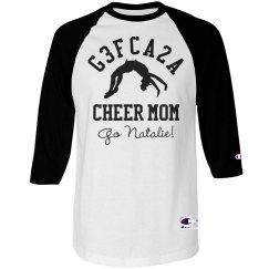 G3FCA2A Cheer Mom Shirt With Custom Name