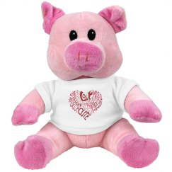Love Typo Pig Plushie