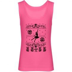 Cute Ballerina Girl's Tank Top