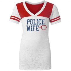 Police Wife Burnout Tee