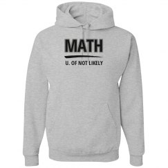Math, U. of not likely