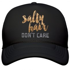 Metallic Salty Hair Don't Care Hat