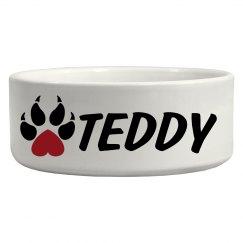 Teddy, Dog Bowl