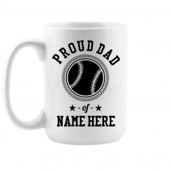 Custom Proud Baseball Dad