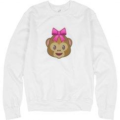 Emoji Monkey Girl