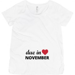Due in November Maternity Shirt