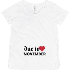 Due in November Maternity Shirt