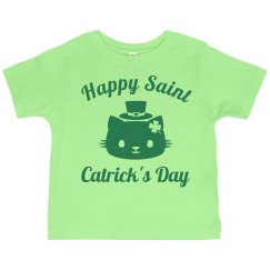St Patricks Day Tees For Kid Cat