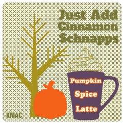 pumpkin latte coaster