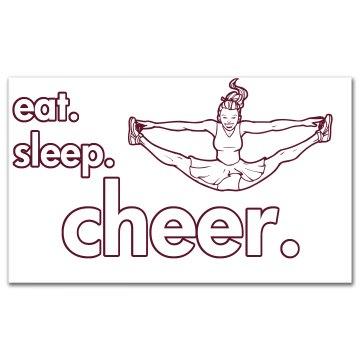 Eat Sleep Cheer Sticker