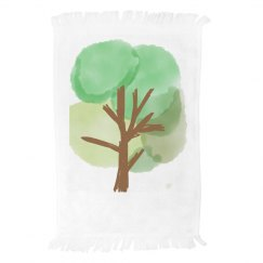 Watercolor Tree Towel