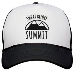 Sweat Before Summit Mountain Trucker Hat