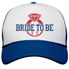 Baseball Bachelorette Party Bride to Be Custom Hats