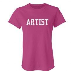Artist Trendy Text T-Shirt