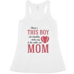 Baseball Mom My Son Stole My Heart