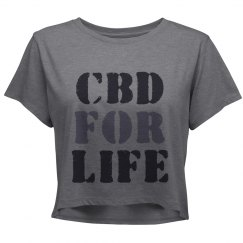 CBD For Life Custom Crop Shirt