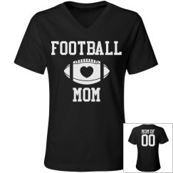 Football Rhinestones Mom